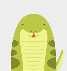 cute big fat snake vector image