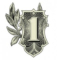 money symbols vector image vector image