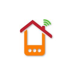 Orange phone house vector image vector image