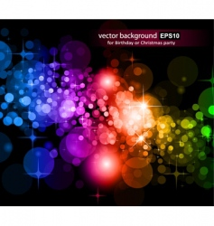rainbow lights background vector image vector image