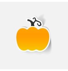 realistic design element pumpkin vector image vector image