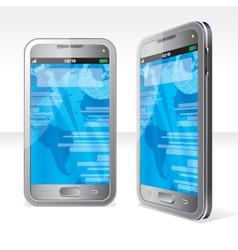 Silver Phones vector image vector image