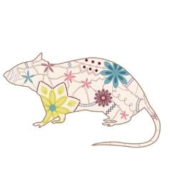 Vintage rat vector image vector image