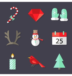 9 Christmas Icons Set 3 vector image vector image