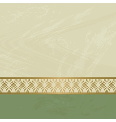 background with a golden border vector image