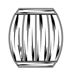 Line wood barrel of wine beverage tasty vector