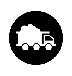 Mine truck isolated icon vector
