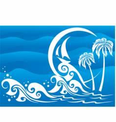 the dark blue sea vector image vector image