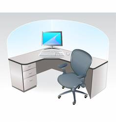 working place cubicle vector image vector image