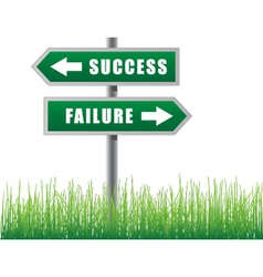 arrows success failure vector image vector image
