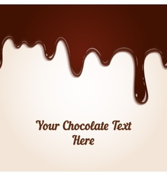 chocolate dripping vector image