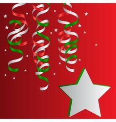 Christmas Christmas Streamers vector image vector image