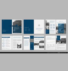 design annual report template brochures vector image