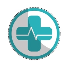 medical cross icon vector image vector image