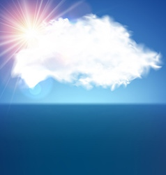 Single cloud over blue vector image