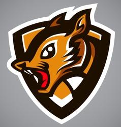 squirrel brown shield logo vector image