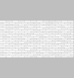 white brick wall texture seamless vector image vector image