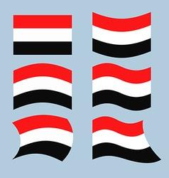 Yemen flag Set of flags of Republic of Yemen in vector image vector image