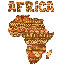 Africa Map Pattern vector image vector image