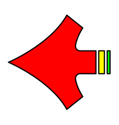 arrow shape vector image vector image