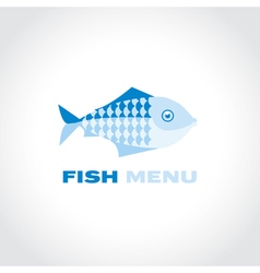 concept fish menu simple icon symbol for fish vector image