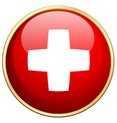 flag icon design for switzerland vector image vector image
