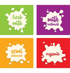 milk splodges group vector image vector image