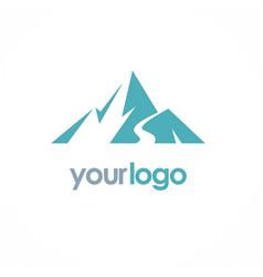 mountain volcano logo vector image