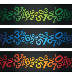 multi coloured number background vector image