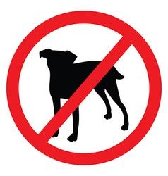 No dog sign vector image vector image