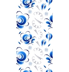 Seamless pattern in russian folk style Gzhel vector image