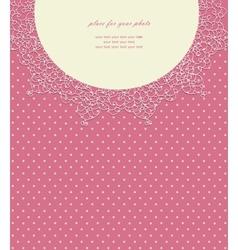 Vintage pink wedding card vector image
