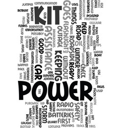 you ready when the power goes out text word cloud vector image vector image