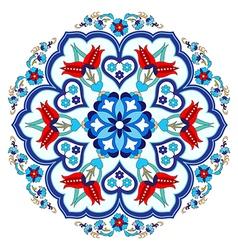 Antique ottoman turkish pattern design three vector