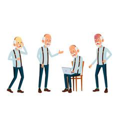 asian old man elderly people senior vector image