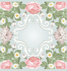 beautiful floral frame template for your text or vector image
