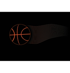 Black Basketball Ball vector image