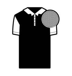 black sections silhouette of polo shirt short vector image