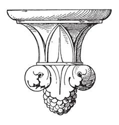 bracket piscina pendant knob metal vintage vector image