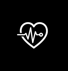 Cardiogram and medical services icon flat design vector