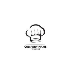chef hat logo design template vector image