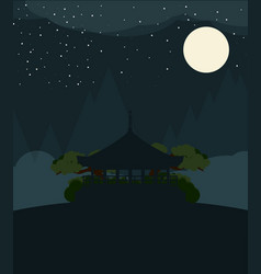 china flat design travel night vector image