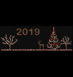 christmas composition fairy lights vector image