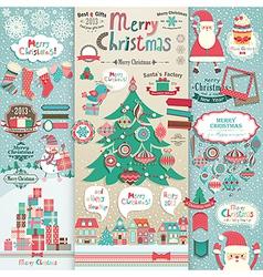 christmas scrapbook vector image