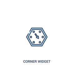 Corner widget concept 2 colored icon simple line vector