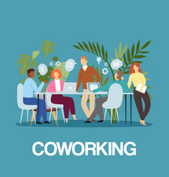 coworking business people concept idea meeting and vector image