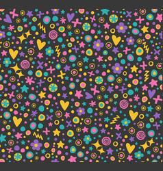 Cute seamless flower pattern vector
