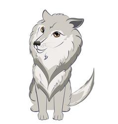 cute wolf portrait vector image