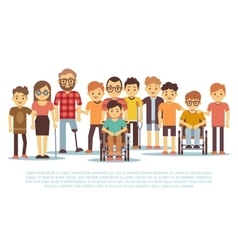 Disabled child handicapped children diverse vector