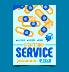 Disinfection service creative promo poster vector